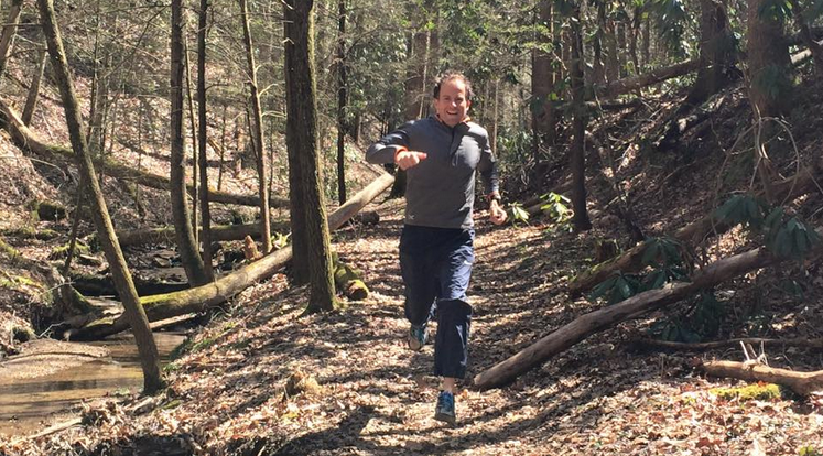 Harvey Lewis training at the Red River Gorge on Sunday. (Photo provided)