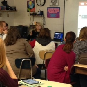 Boone County science teacher Tricia Shelton leads EdCamp session (Photo by Nick Gonnella)