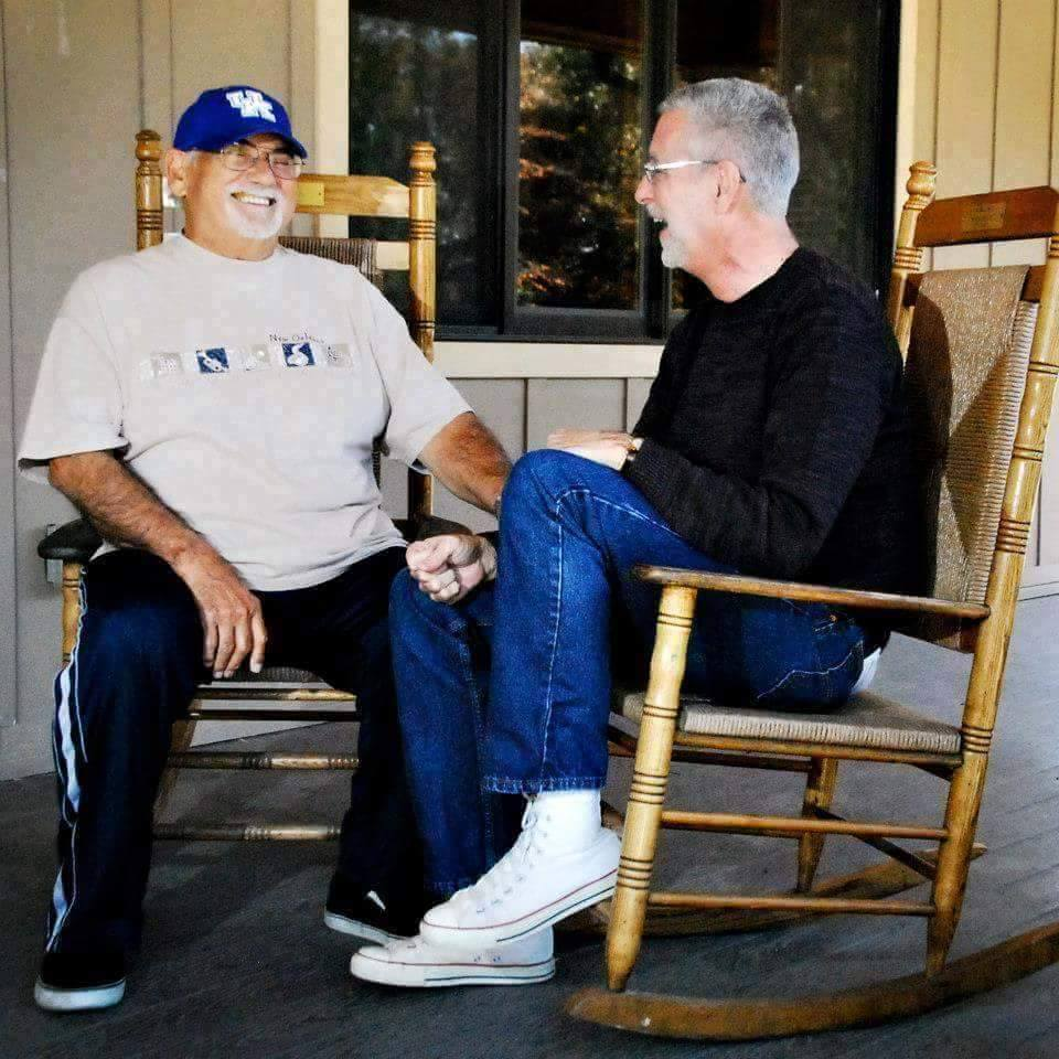 Steve with one of his favorites, Sonny Osborne of The Osborne Brothers, widely known for the song Rocky Top (Photo by Abigail Martin)