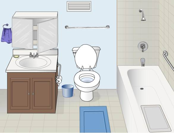 Yes  the bathroom  CDC graphic Keven Moore  If you think the kitchen is the most dangerous room  . In The Bathroom. Home Design Ideas