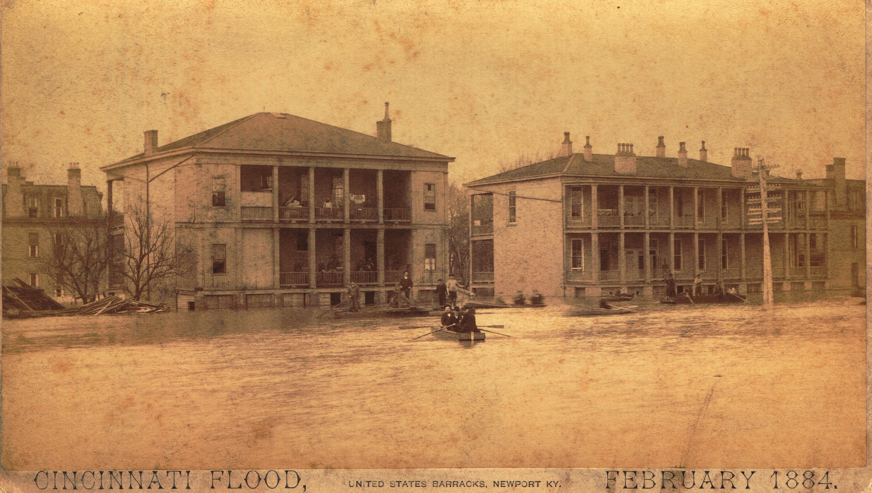 The Flood of 1884 was one of many that devastated Newport Barracks and led to the eventual decision to close it.