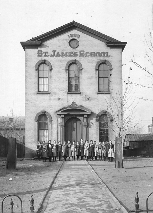 Odd Fellows Hall, Ludlow, was used by the First Presbyterian Church for services in the early years, and by St. James School from 1893-1911.