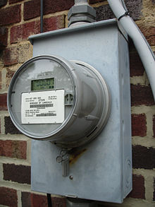 Retrofitted digital electricity meter. From Wikipedia