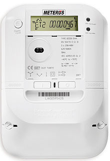 Example of a smart meter. From Wikipedia</small