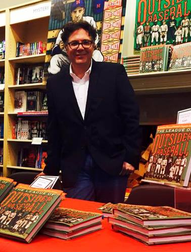 """Gary Cierdkowski at a book signing for """"The League of Outsider Baseball"""""""