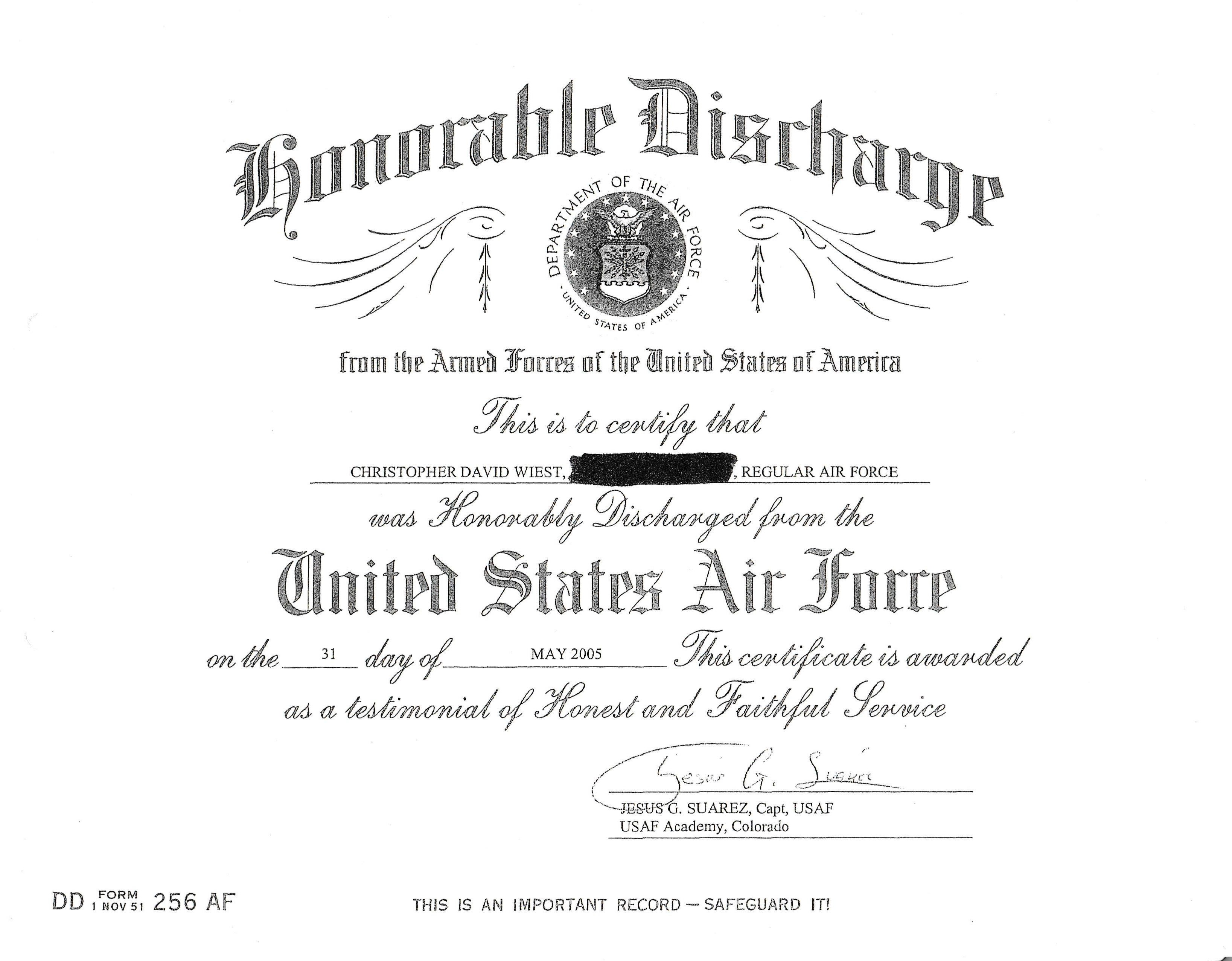 Dd Form 256 Erkalnathandedecker