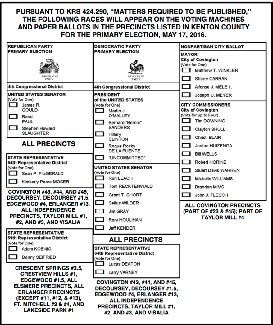 Primary election is Tuesday: Here are the sample ballots for your county — Help get out the vote ...