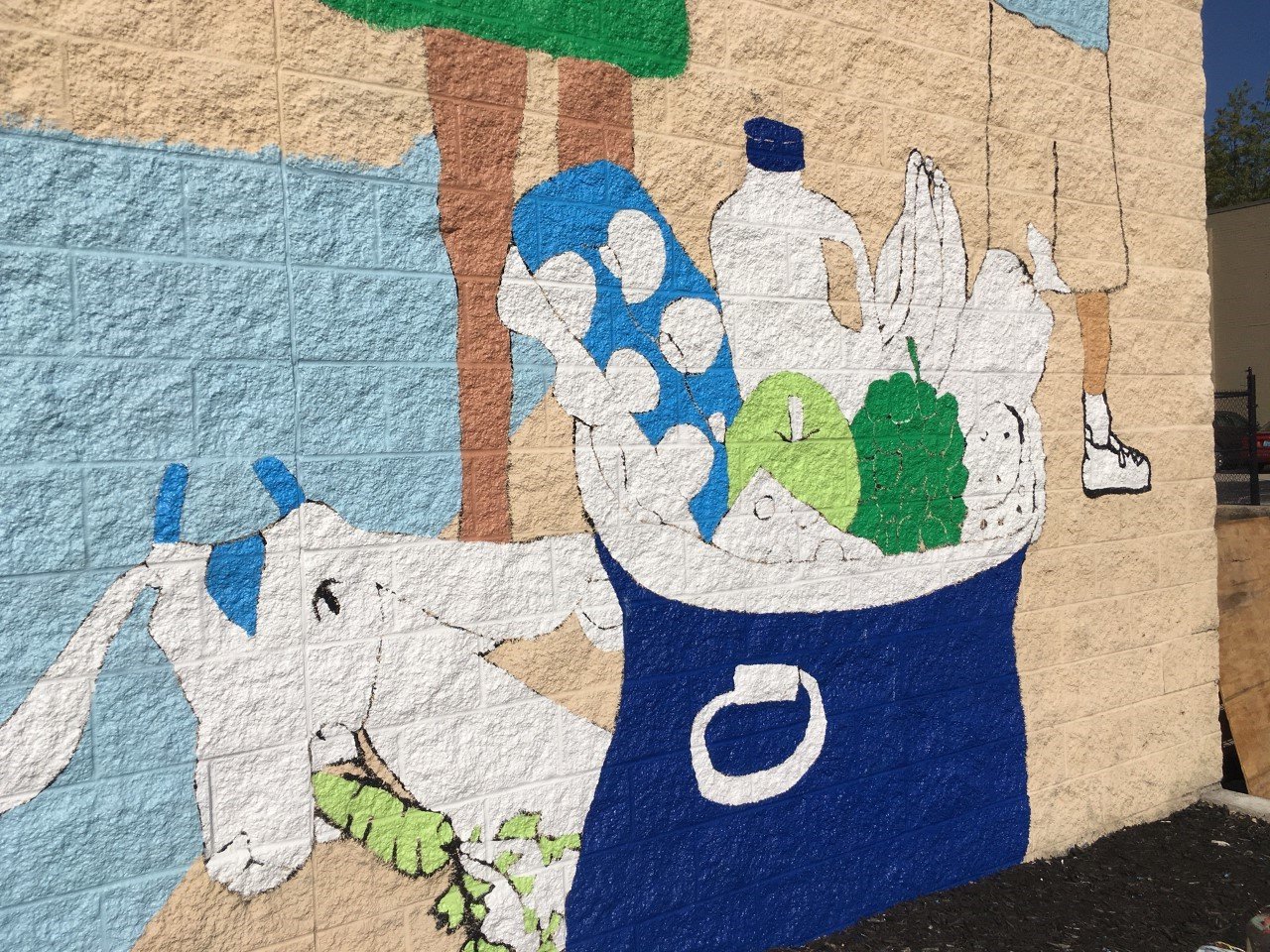 "A Goebel Goat is included in the ""Love the Cov"" mural."