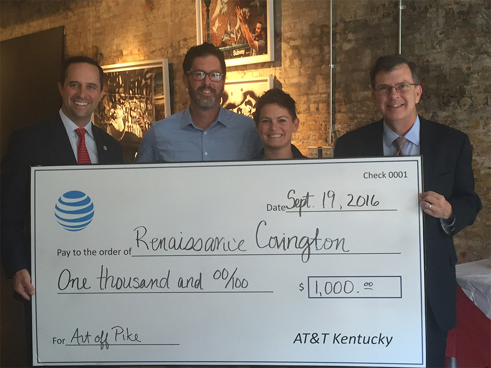 Sen. Chris McDaniel, Renaissance Covington board chair Jim Guthrie and director Katie Meyer, and Hood Harris of AT&T