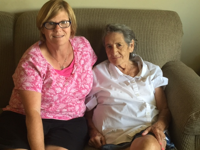 Cindy Harvey and Nancy Caudill of Erlanger are neighbors, friends, and a support system for one another.