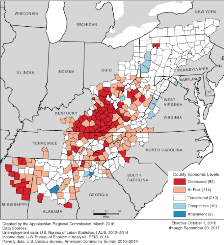 Ron Daley Eastern Kentucky Must Learn From Past To Prepare For - Us map of economic resources 2016