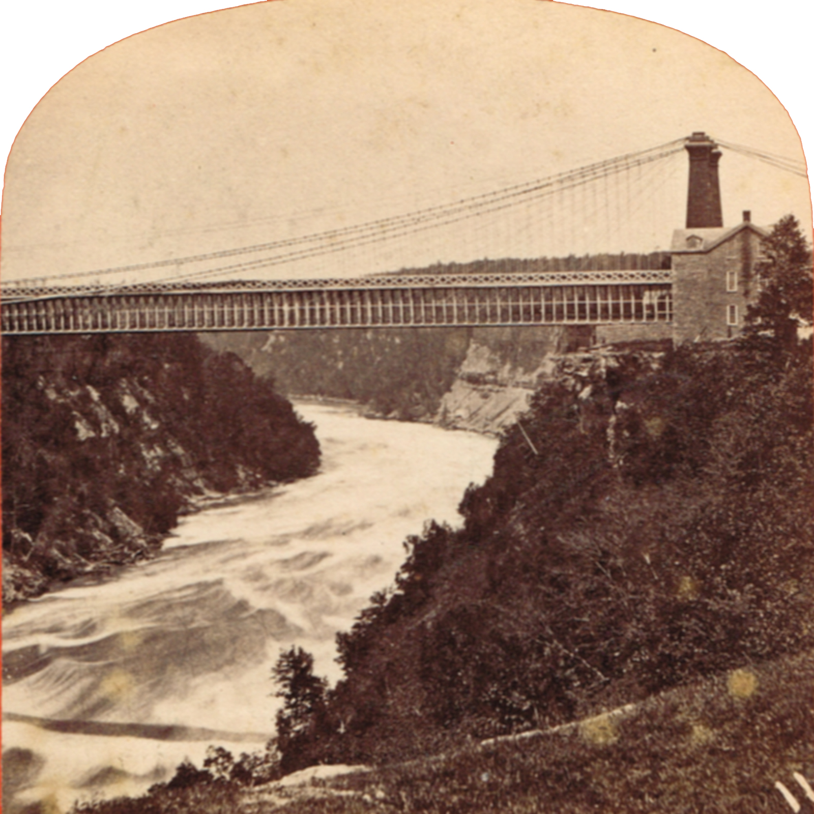 The Niagara Suspension Bridge. Courtesy of Paul A. Tenkotte.
