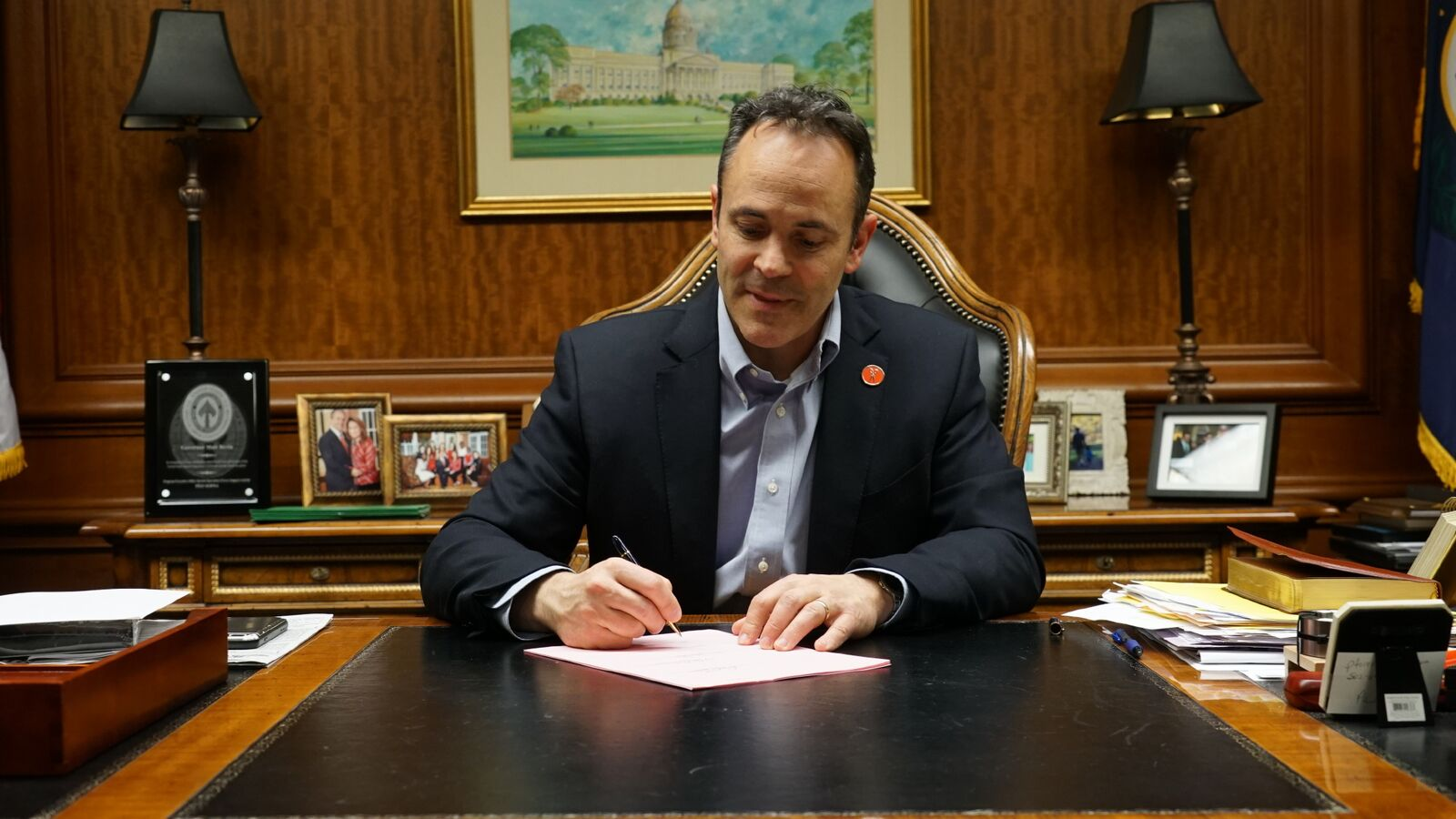 Gov. Matt Bevin has signed into law seven historic bills sent to his desk by the Kentucky General Assembly, following a record-setting first week of work in Frankfort (Photo Provided)