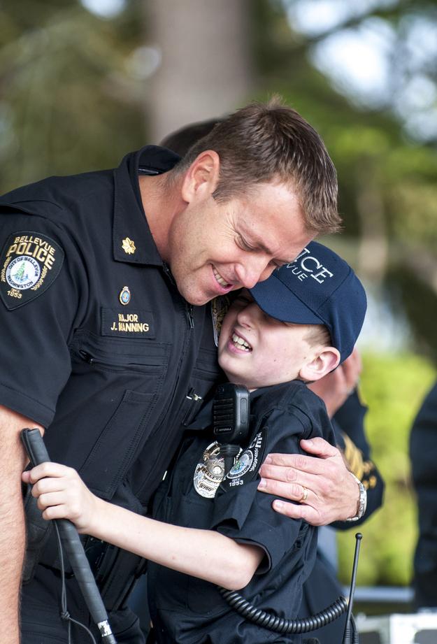 police-hug