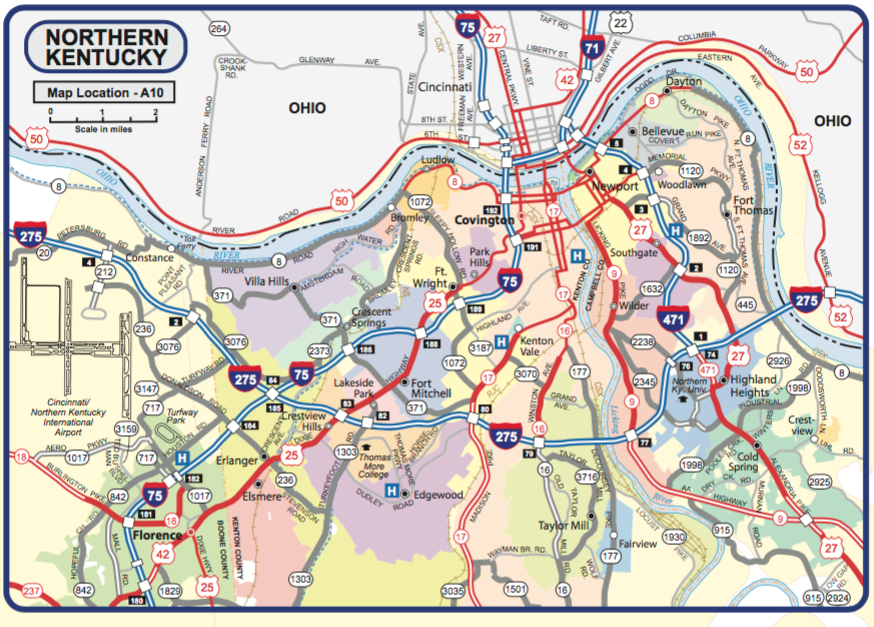 new official 2017 kentucky highway map now available highlights