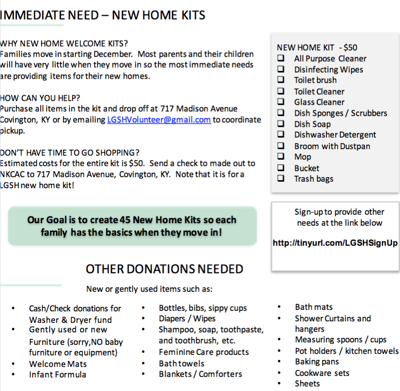 List Of Furniture For New House Nkcac to hold ribbon cutting at lincoln grant scholar house house hold items and starter kits to help families deal with their new home and on naming opportunities for bigger funding see this list of needs sisterspd