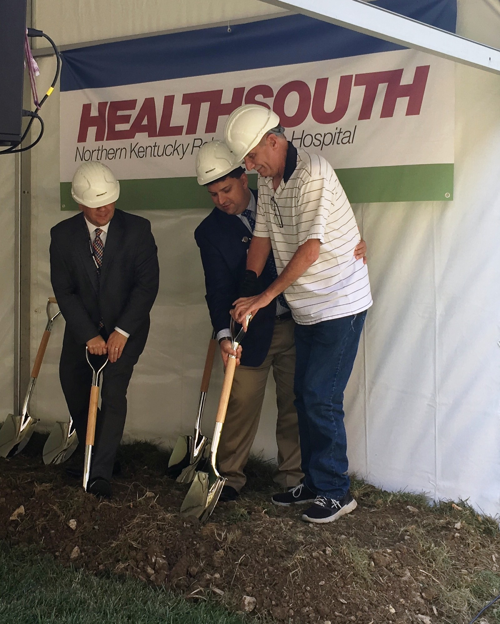 Healthsouth physical therapy - Left To Right Jeremy Yates Ceo Healthsouth Northern Kentucky Troy Dedecker Regional President And Bill Kappesser A Former Patient From Healthsouth