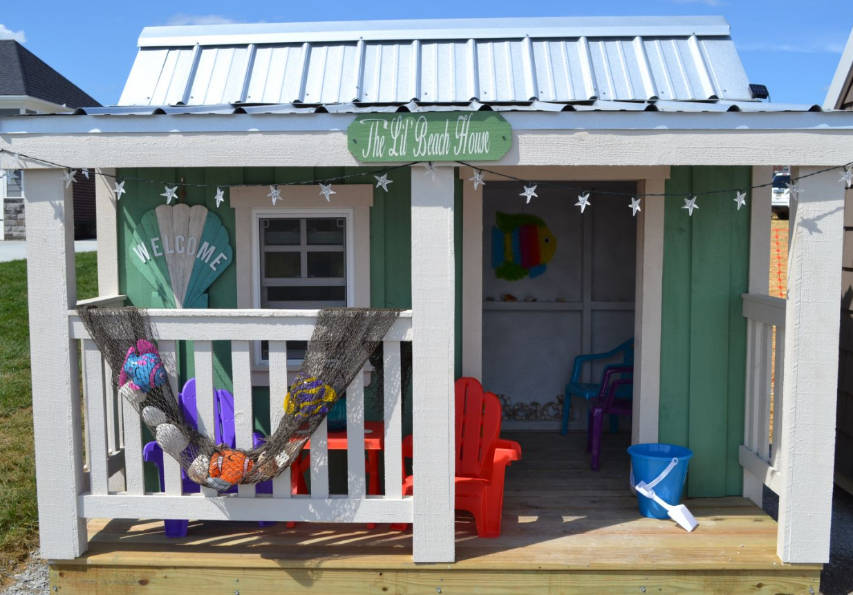 Bia to give away three custom built playhouses to benefit for Beach house construction materials