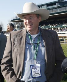 Trainer Larry Jones, a native of Hopkinsville, seems to have a winning way with fillies (Keeneland Photo)