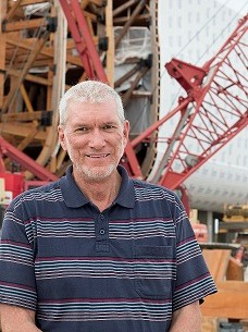 Ken Ham, president of Answers in Genesis, at the Ark Encounter construction site (provided photo).