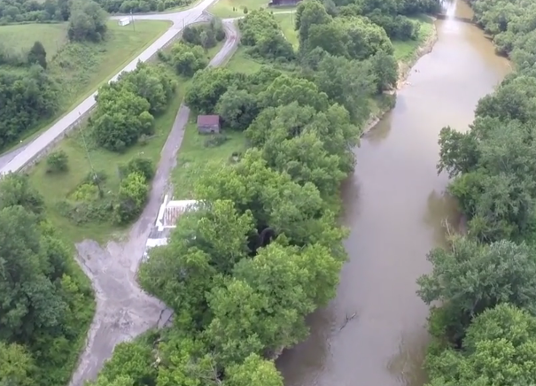 The Licking River -- from a drone-video, thanks to Prosper Media
