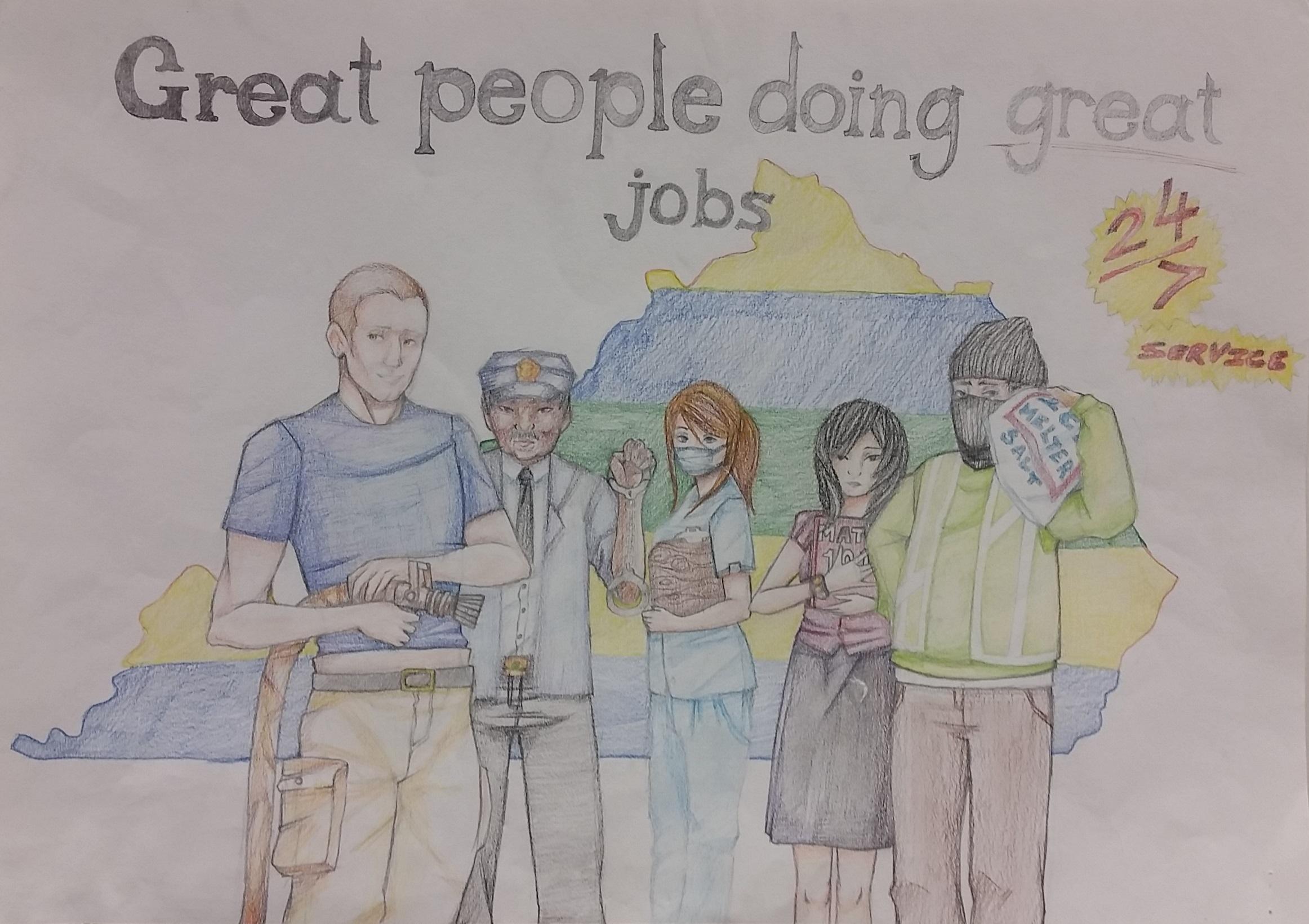 Winning poster by Shaunda Akemon  of Holmes High School
