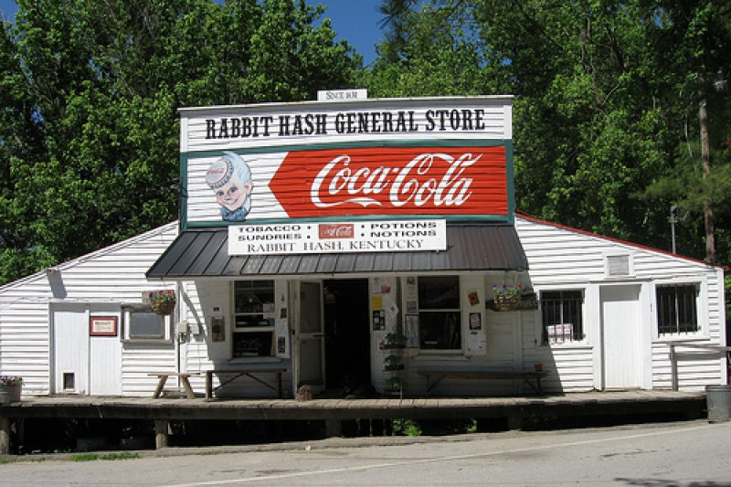 Rabbit Hash's famed General Store before the fire.