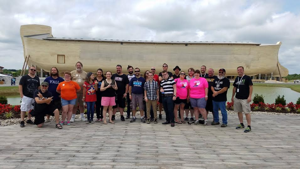 A group of Ark Encounter protesters joined Creation Today's Eric Hovind for a tour of the massive vessel (photos provided by Eric Hovind).
