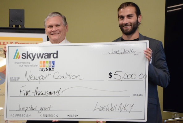 Bill Scheyer, president of Skyward, and Steve Mathisen, co-chair LiveWell Coalition (Photo provided