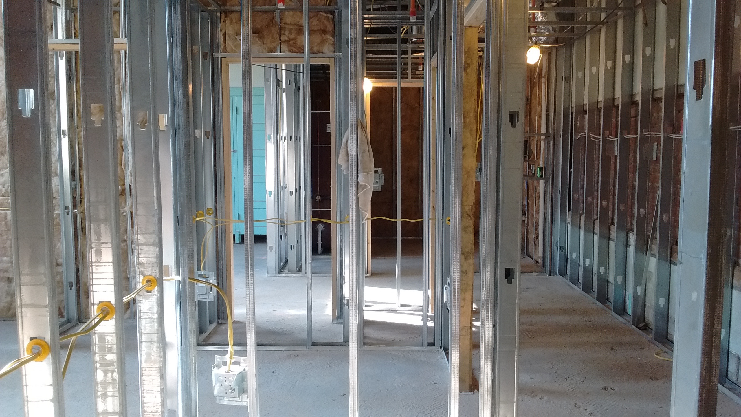 Construction proceeds on a living unit