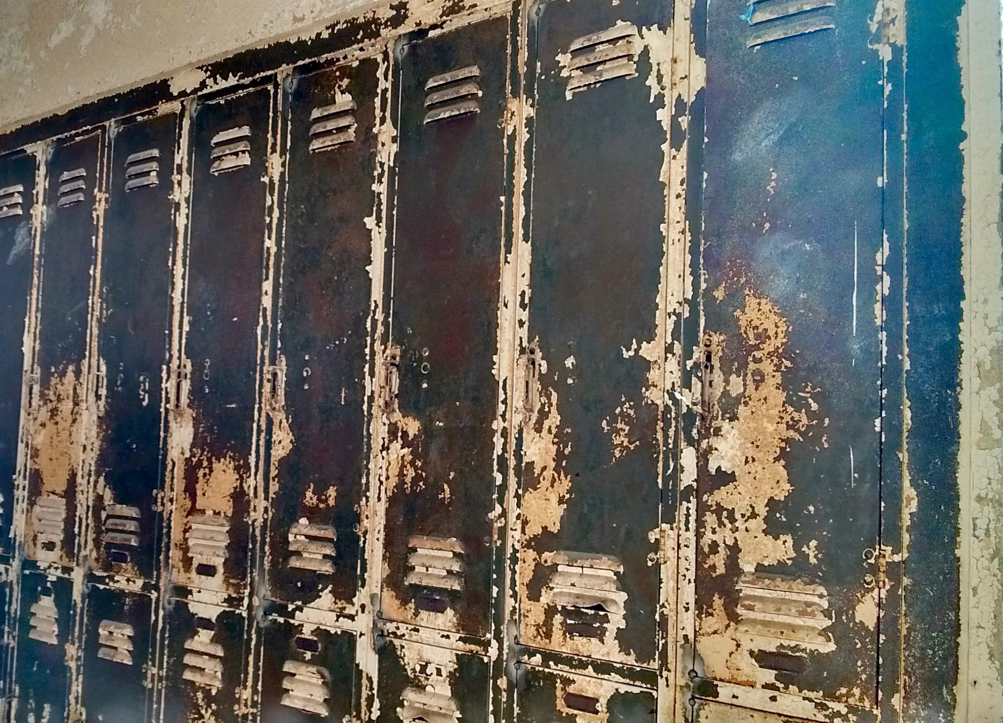 Historic school lockers being refurbished