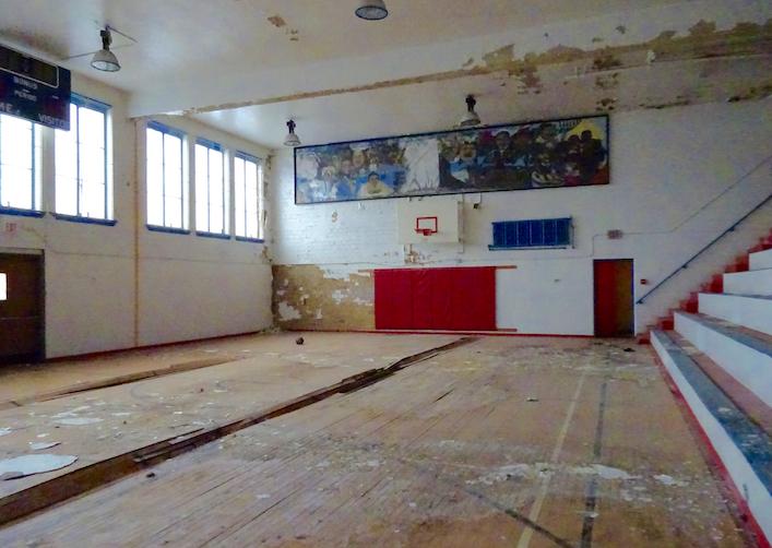 The school gym