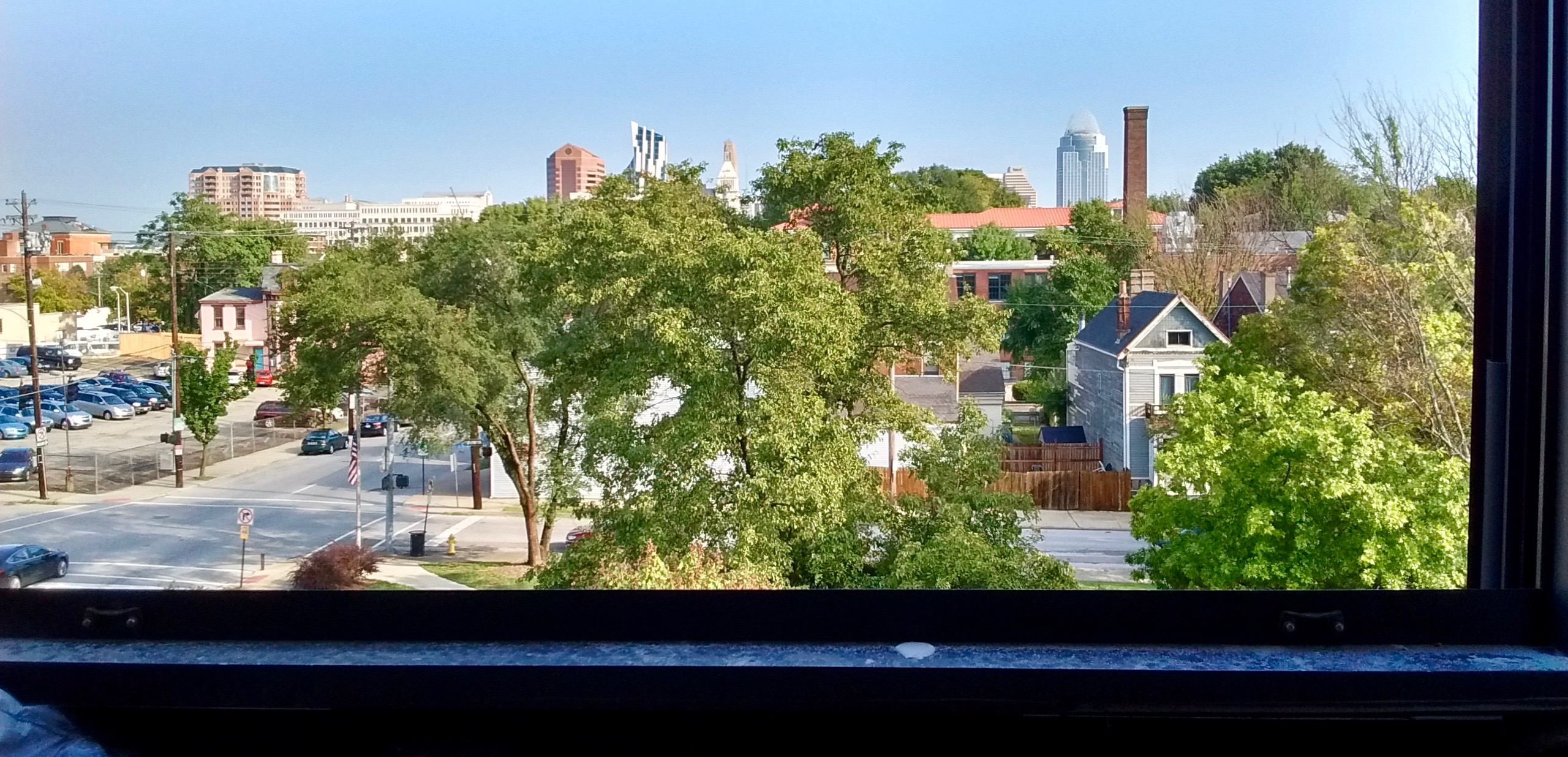 Skyline view from a North-facing unit