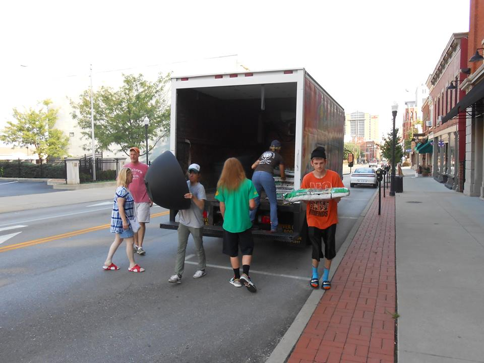 NKY Community Action Commission's Youth Build helped with some of the heavy hauling of planters and soil.