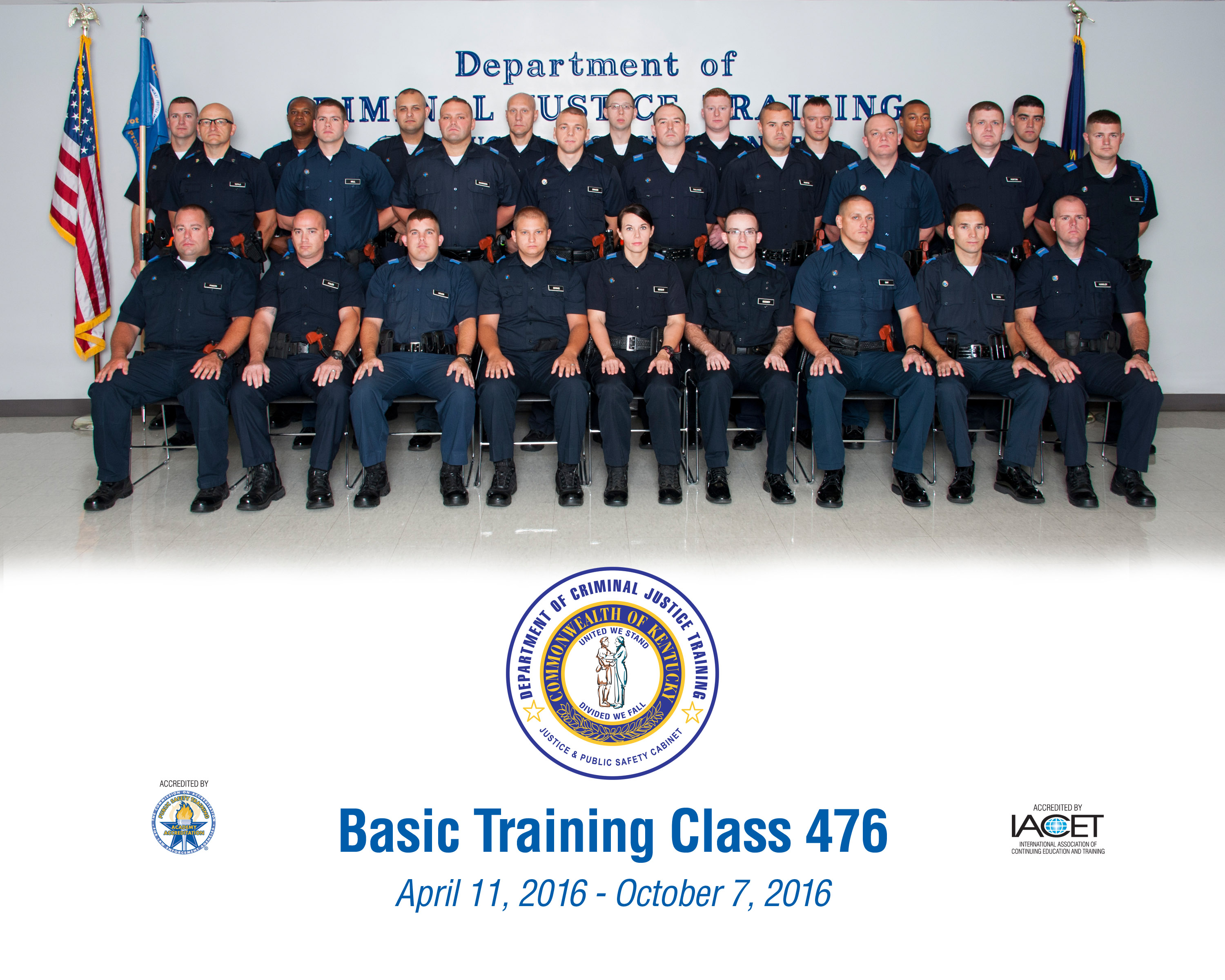 Two NKY officers graduate as part of Class 476 from training
