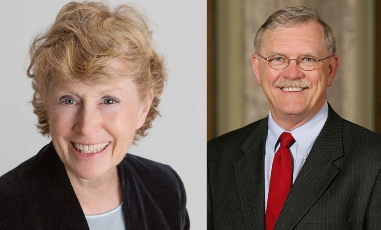 Covington mayoral candidates, incumbent Sherry Carran and Joe MAyor met at a candidate forum at the Madison Event Center Thursday
