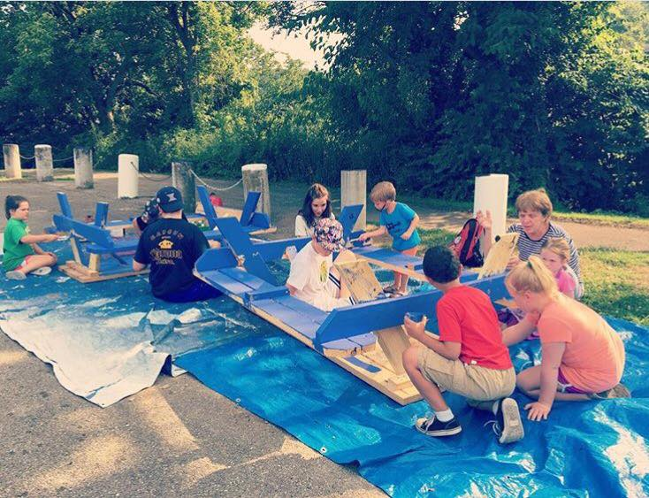 Last year -- a painting day at Goebel Pool