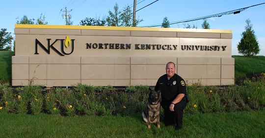 NKU's K-9 Arritt and Officer Murray