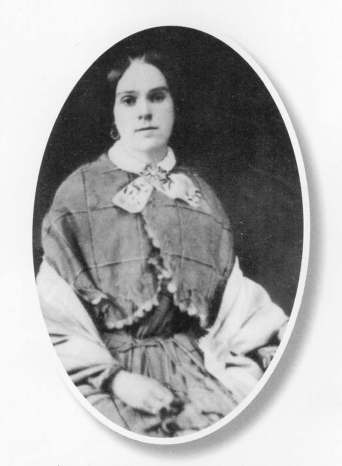 Lucy Ann Leathers Burdsall (1825-1873). Photo courtesy of Donna Kennedy.