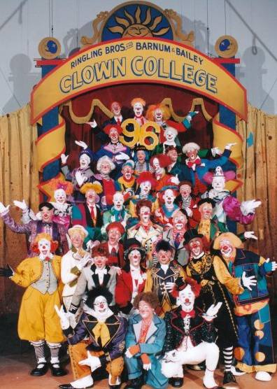 Ringling Clown College, 1996 (Photo provided)