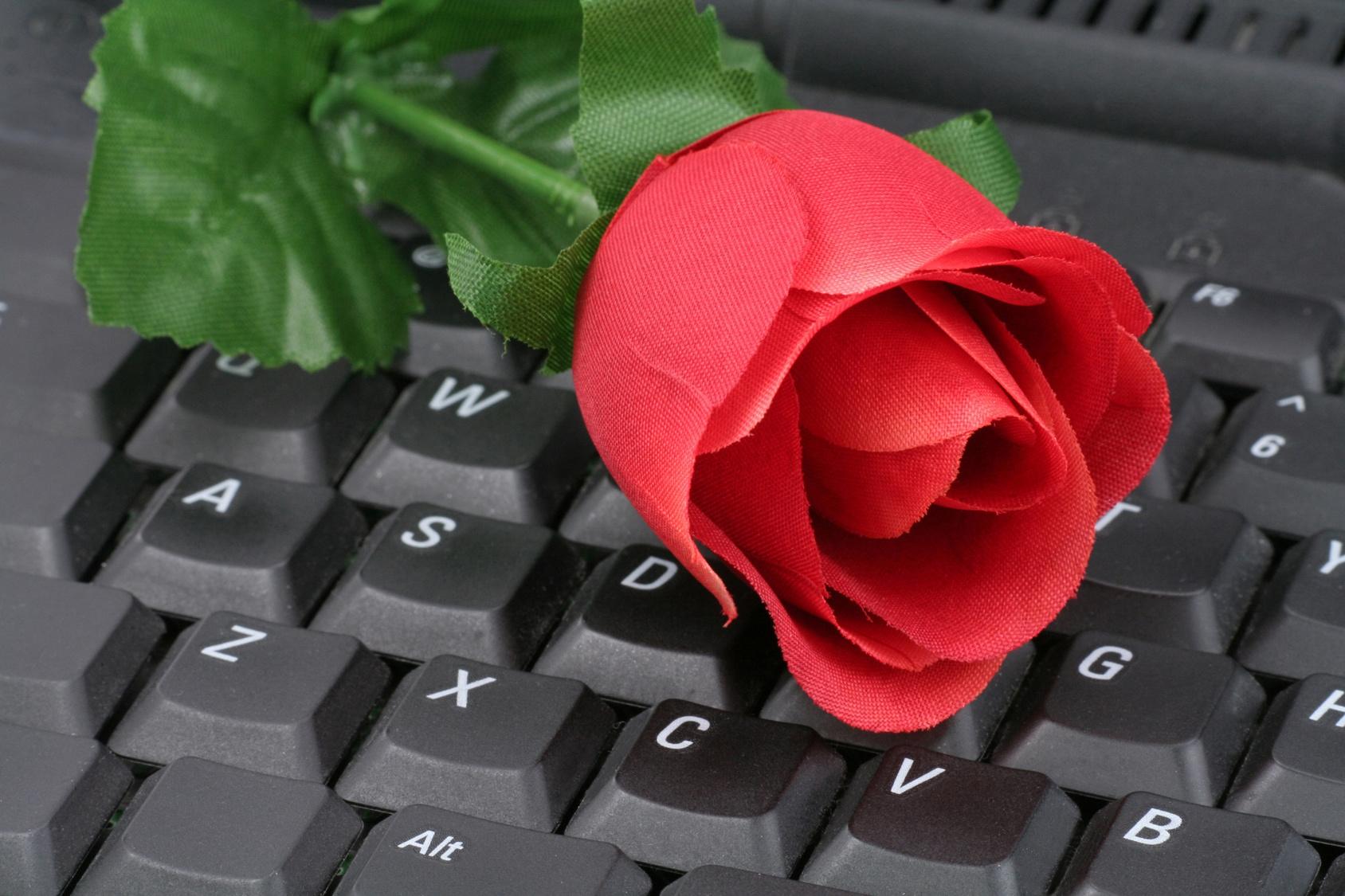 Открытка с клавиатурой