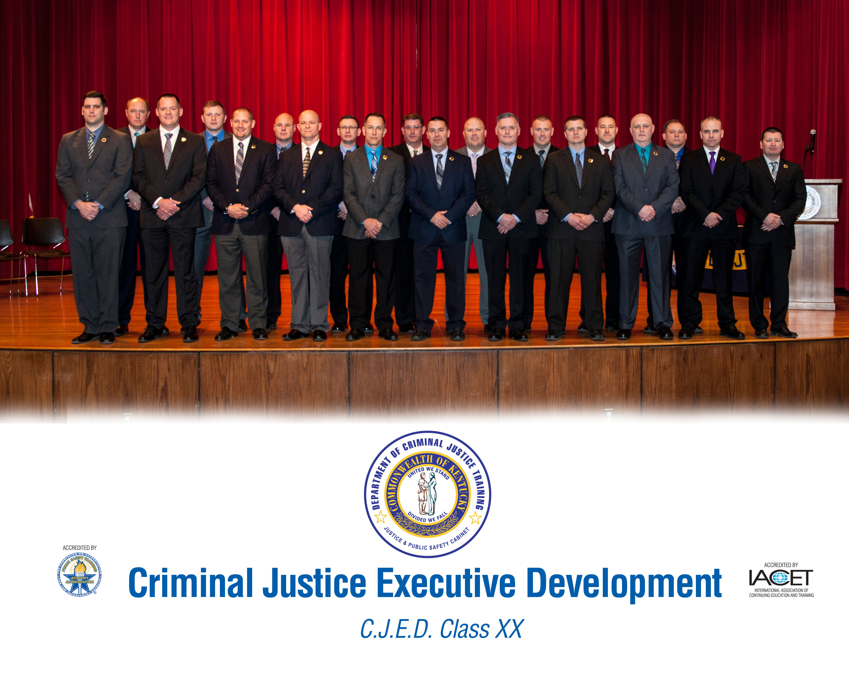 Twenty law enforcement executives graduate from Criminal
