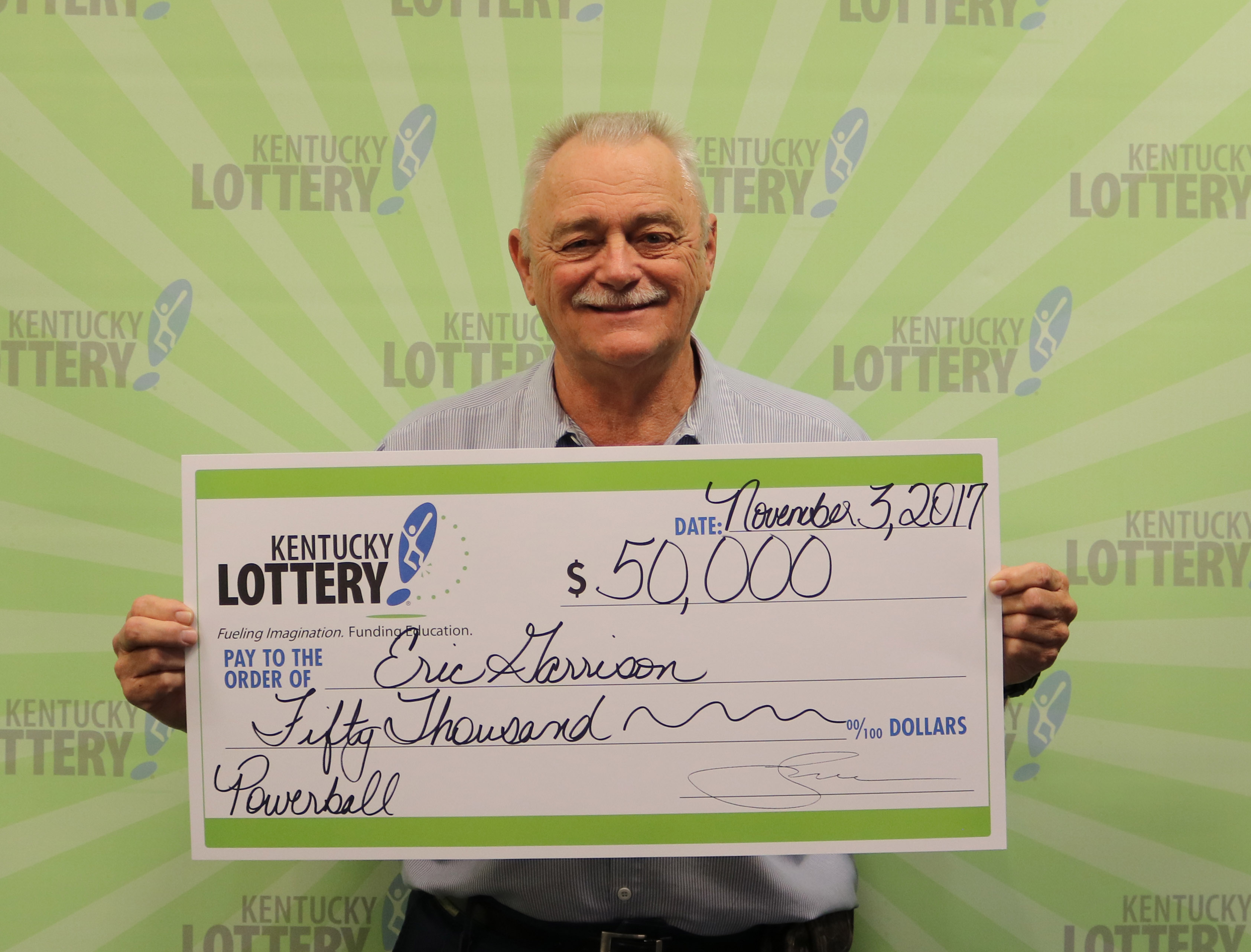 Falmouth's Eric Garrison wins $50k lottery jackpot with same