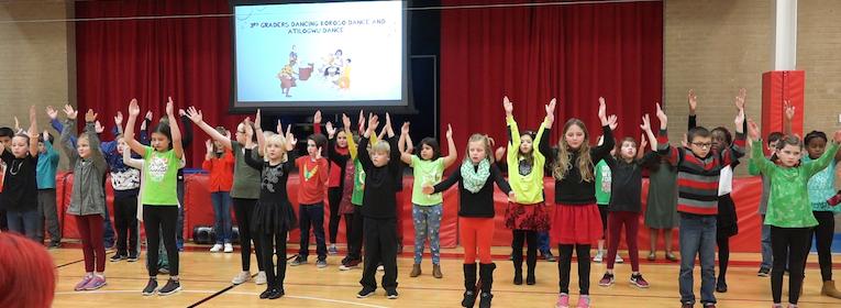 Goodridge Elementary students stage African Dancing & Talent