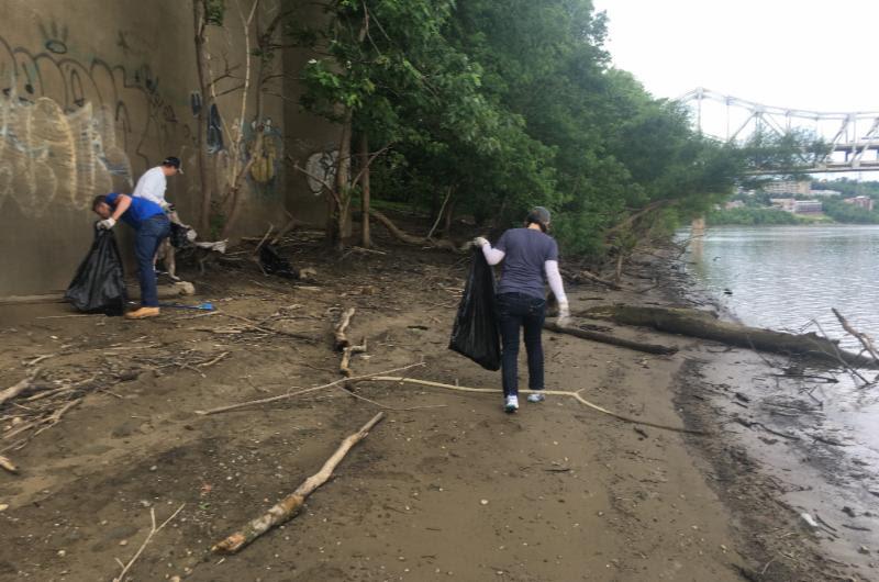 Covington River Sweep volunteers average 45 lbs  of trash