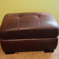 Leather Ottoman $40
